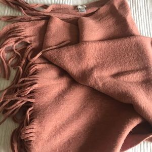 Anthropologie large blanket scarf throw - pink